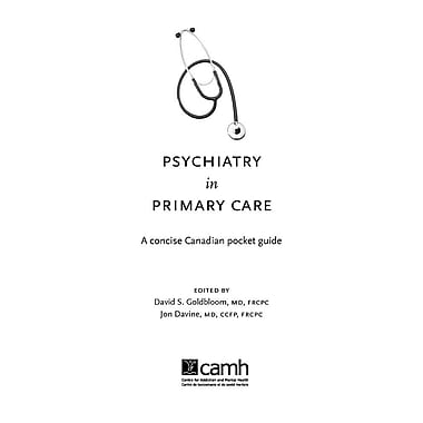 Psychiatry in Primary Care: A Concise Canadian Pocket Guide