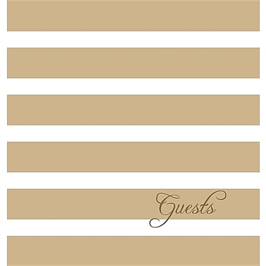 Guest Book and Anniversary Journal: Tan Stripes