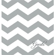 Guest Book and Anniversary Journal: Gray Chevron