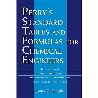 Perry's Standard Tables and Formulae For Chemical Engineers