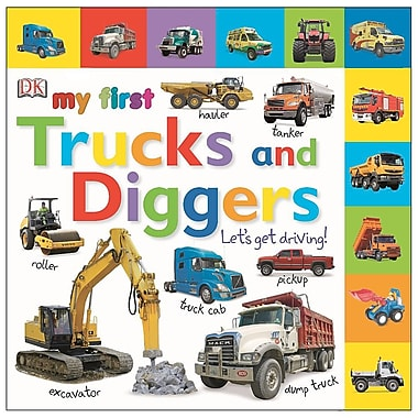 Tabbed Board Books: My First Trucks and Diggers: Let's Get Driving!