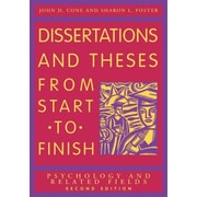 Dissertations and Theses from Start to Finish: Psychology and Related ...