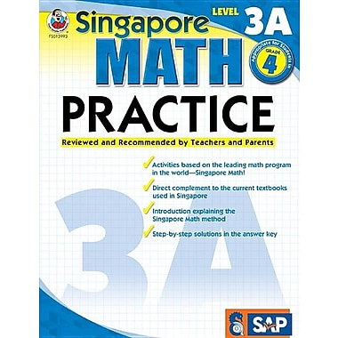 Math Practice, Grade 4: Reviewed and Recommended by Teachers and Parents (Singapore Math)