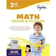 Third Grade Math Games & Puzzles (Sylvan Workbooks) (Math Workbooks)