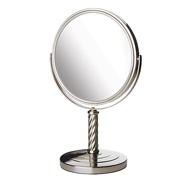 Jerdon Dual Sided Vanity Mirror; Nickel