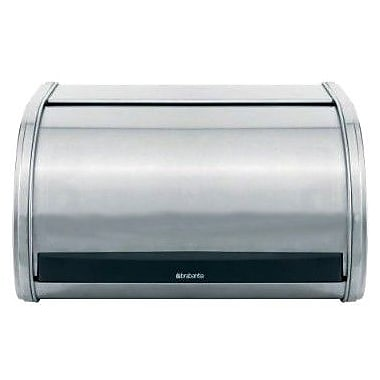 Brabantia Medium Roll Top Bread Bin; Brilliant Steel