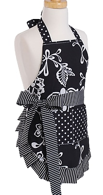 Flirty Aprons Girl s Apron in Sassy Black