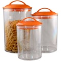 Reston Lloyd 3 Piece Acrylic Canister Set; Orange