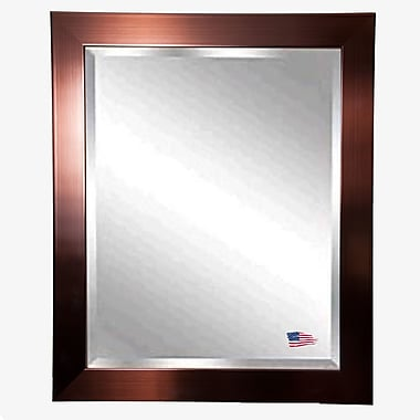 Rayne Mirrors Jovie Jane Shiny Bronze Petite Wall Mirror; 43.5'' H x 37.5'' W x 0.75'' D