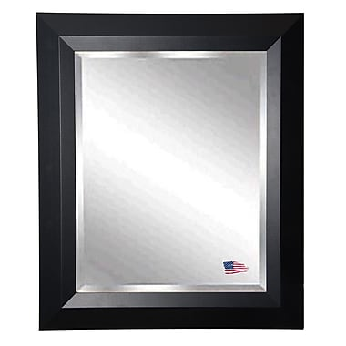 Rayne Mirrors Jovie Jane Solid Black Angle Wall Mirror; 35.5'' H x 41.5'' W x 0.75'' D