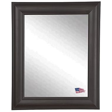 Rayne Mirrors Ava European Walnut Wall Mirror; 38.5'' H x 32.5'' W x 1'' D