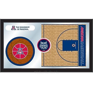 Holland Bar Stool NCAA Basketball Mirror Framed Graphic Art; Arizona