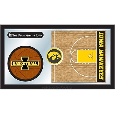 Holland Bar Stool NCAA Basketball Mirror Framed Graphic Art; Iowa