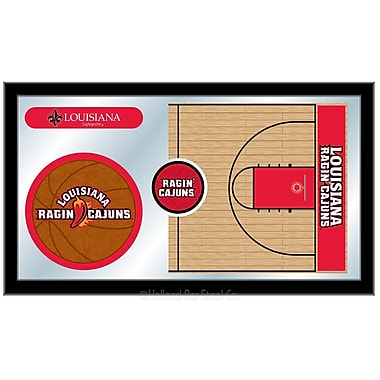 Holland Bar Stool NCAA Basketball Mirror Framed Graphic Art; Louisiana-Lafayette