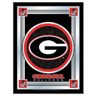 Holland Bar Stool NCAA Logo Mirror Framed Graphic Art; Georgia ''G''