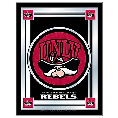 Holland Bar Stool NCAA Logo Mirror Framed Graphic Art; UNLV