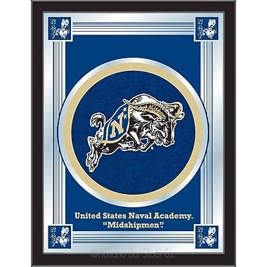 Holland Bar Stool NCAA Logo Mirror Framed Graphic Art; US Naval Academy (NAVY)