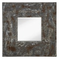 Majestic Mirror Mixed Media Square Bevel Wall Mirror