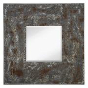 Majestic Mirror Mixed Media Square Bevel Wall Mirror