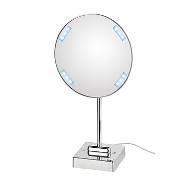 WS Bath Collections Mirror Pure Discololed Magnifying Cosmetic Mirror w/ Lighting