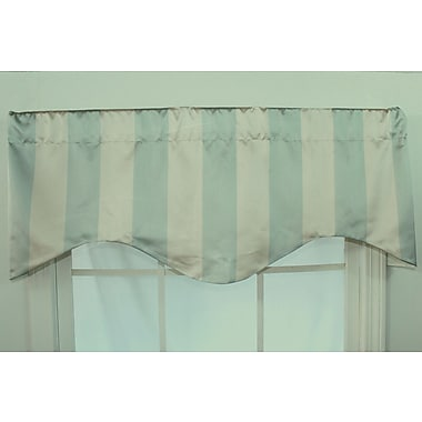 RLF Home Actual Stripe 50'' Curtain Valance; Blue