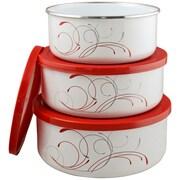 Corelle Corelle Coordinates 3 Piece Storage Bowl Set in Red