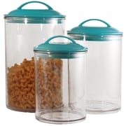 Reston Lloyd 3 Piece Acrylic Canister Set; Turquoise