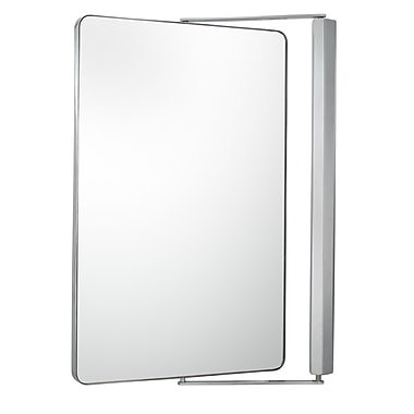Sergena Sergena Metro Pivot Wall Mirror; Chrome