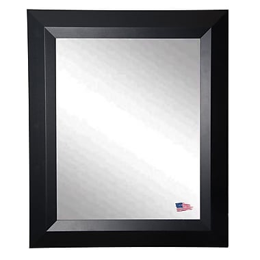 Rayne Mirrors Ava Contemporary Matte Black Wall Mirror; 39'' H x 33'' W x 0.75'' D