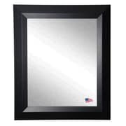 Rayne Mirrors Ava Contemporary Matte Black Wall Mirror; 36'' H x 30'' W x 0.75'' D