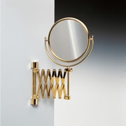 Windisch by Nameeks Wall Mounted Extendable Double Face Magnifying Mirror; Gold