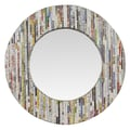Linon Magazine Round Mirror