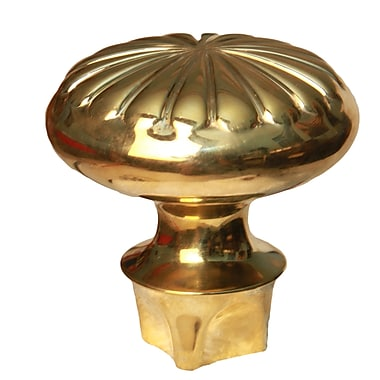DJA Imports Curtain Finial; Antique Brass