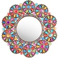 Oriental Furniture Flowers Beads Mirror