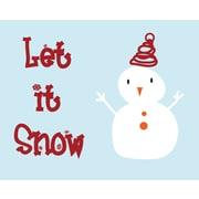 Secretly Designed Let it snow! Art Print