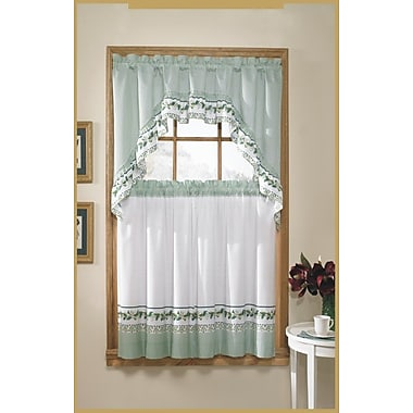 United Curtain Co. 60'' Valance and Tier Set