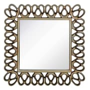 Majestic Mirror Stylish Contemporary Square Pewter Framed Glass Hanging Wall Mirror