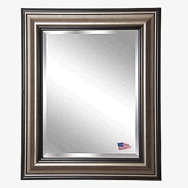 Rayne Mirrors Jovie Jane Antique Black and Silver Wall Mirror; 38.5'' H x 32.5'' W x 1'' D