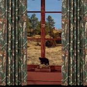 HiEnd Accents Oak Camo Rod Pocket Curtain Panels  (Set of 2)