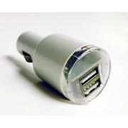 Tera Grand Dual USB Car Charger, 5V 2.1A, White
