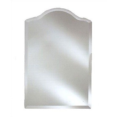Afina Radiance Scallop Top Frameless Wall Mirror; 16'' x 25''