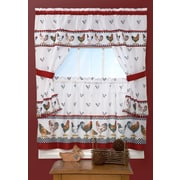 Achim Importing Co Top of the Morning Cottage 57'' Valance and Tier Set; 36'' H x 57'' W x 2'' D