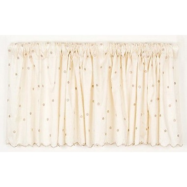 Glenna Jean Madison Dot Embroidery 92'' Curtain Valance
