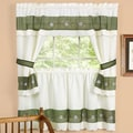 Achim Importing Co Berkshire Embellished Cottage 58'' Valance and Tier Set; 24'' H x 58'' W