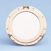 Handcrafted Model Ships Porthole Mirror; 14'' H x 14'' W x 3'' D