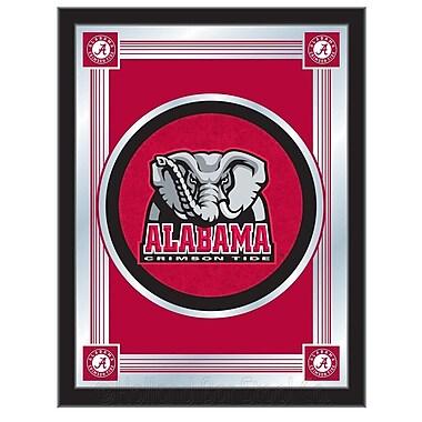Holland Bar Stool NCAA Logo Mirror Framed Graphic Art; Alabama Elephant