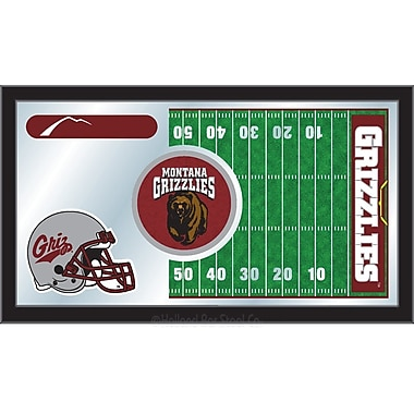 Holland Bar Stool NCAA Football Mirror Framed Graphic Art; Montana