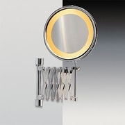 Windisch by Nameeks Wall Mounted Extendable Magnifying Mirror; Satin Nickel