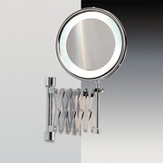 Windisch by Nameeks Wall Mounted Extendable Magnifying Mirror; Chrome