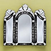 Venetian Gems Monet Wall Mirror; Black